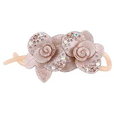 Korean Style Elegant Flower Shape Hair Clips Hair Accessories For Women Beige ** Read more  at the image link. (This is an Amazon affiliate link and I receive a commission for the sales and I receive a commission for the sales)