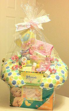 Unique Gift Basket | DIY Baby Shower Gift Basket Ideas for Girls