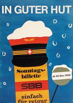 Scapa (Schaap Ted), SBB - Sonntagsbillette, Jahr: 1969