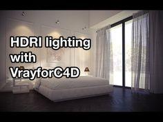 Cinema 4D - V-Ray HDRI Interior Lighting and Rendering Tutorial