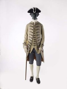 Fawn-coloured coat and matching waistcoat (c. 1765-1775)
