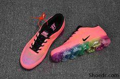 8230c2b4a35 New Nike Air VaporMax 2018 KPU Pink Rainbow Sole Women Shoes Nike Air  Vapormax