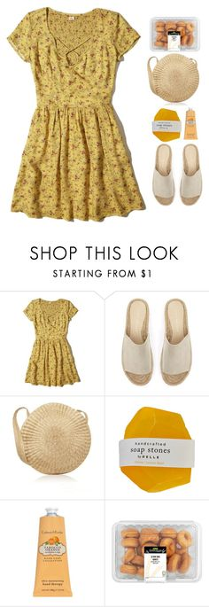 """""""Believe In Yourself"""" by daizydreamer ❤ liked on Polyvore featuring Hollister Co., Mint Velvet, Crabtree & Evelyn, Summer, yellow, sundress and slides"""