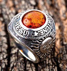 Амулет Янтарный Мужская кольцо