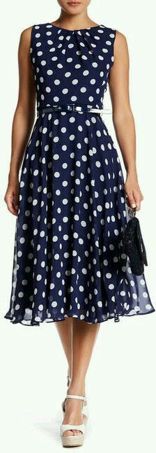231f24322d Vestido de bolinha Polka Dot Dresses, Polka Dot Clothing, White Polka Dot  Dress,