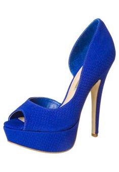 Avokärkiset korkokengät - sininen