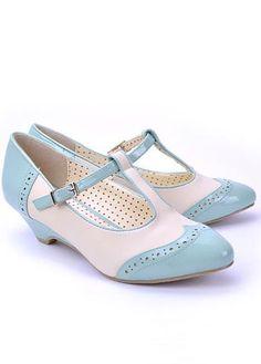 Bait Footwear T-Strap 'Ione' in Precious Blue