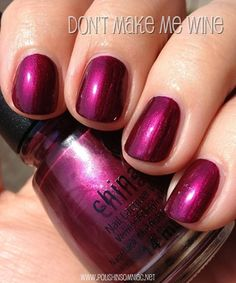China Glaze Don't Make Me Wine | #EssentialBeautySwatches | BeautyBay.com