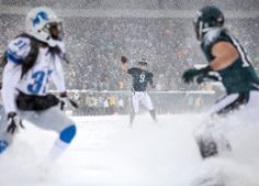 What It's Like To Shoot Football In The Snow