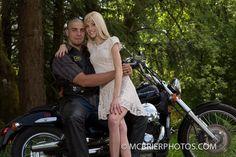 Honda motorcycle engagement photo shoot for my spring wedding.