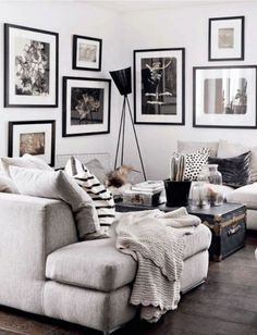 Gray and White Living Room Furniture. Gray and White Living Room Furniture. Light Gray and White Sitting Room for Beach House Grey Walls Living Room, Black And White Living Room, Living Room Colors, Cozy Living Rooms, Living Room Paint, Living Room Modern, Living Room Interior, Living Room Furniture, Living Room Designs