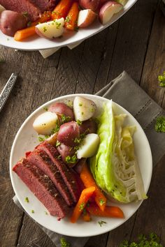In the spirit of St. Patrick's Day, try out this festive new sous vide recipe for corned beef and cabbage. This recipe is from our SousVide Supreme One Pot cookbook. Corn Beef And Cabbage, Cabbage Recipes, Beef Recipes, Cooking Recipes, Anova Recipes, Family Recipes, Cooking Ideas, Holiday Recipes, Dinner Recipes