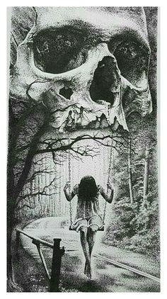 Death Hangs patiently over her. waiting for her illness to.- Death Hangs patiently over her… waiting for her illness to overcome her. – Zei… Death Hangs patiently over her… waiting for her illness to overcome her. Dark Fantasy Art, Fantasy Kunst, Dark Artwork, Skull Artwork, Arte Horror, Horror Art, Skull Tattoos, Body Art Tattoos, Art Sombre