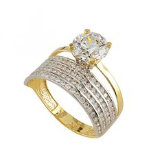 Diamond Diamond 3.5 Carat Round Cut Diamond Engagement Ring Si1/f Yellow Gold 14k 6148