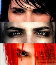 Gerard Way My Chemical Romance.... his eyes his hair <3