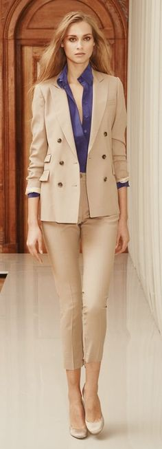 Pastel office outfit idea