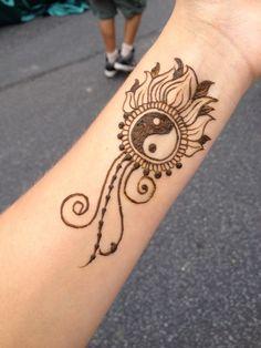 Henna wrist tattoo