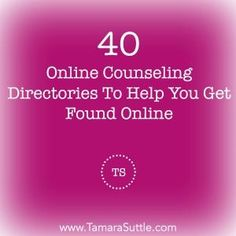 . . . 2016 updated list of online counseling directories. However, therapist beware - not all directories are equally useful to your Private Practice . . . .