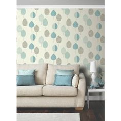 Carrie Leaf Teal at Homebase -- Be inspired and make your house a home. Buy now.