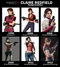 Claire Redfield through the years