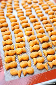 DIY snack Goldfish Crackers - 20 Best KnockOff Recipes to Bake. Homemade Goldfish Crackers, Entree Vegan, Baby Food Recipes, Cooking Recipes, Food Baby, Easy Cooking, Healthy Cooking, Homemade Cheese, Tasty Kitchen