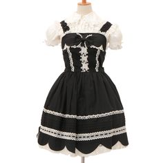 http://www.wunderwelt.jp/products/detail6723.html ☆ ·.. · ° ☆ ·.. · ° ☆ ·.. · ° ☆ ·.. · ° ☆ ·.. · ° ☆ Black × white lace jumper skirt BABY THE STARS SHINE BRIGHT ☆ ·.. · ° ☆ How to order ↓ ☆ ·.. · ° ☆ http://www.wunderwelt.jp/user_data/shoppingguide-eng ☆ ·.. · ☆ Japanese Vintage Lolita clothing shop Wunderwelt ☆ ·.. · ☆ #btssb