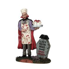Lemax Drac's Big Bite. SKU# 72489. Released in 2017 as a Figurine for the Lemax Spooky Town Village Collection.