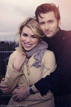 David Tennant and Billie Piper.  I miss them!!!!!!!  And actually, the more I look at this picture, the more I think it's my favorite of them.