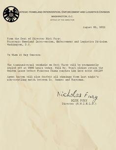 Memos from Nick Fury