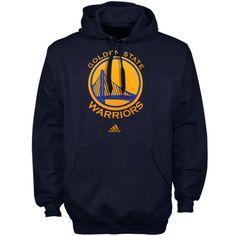Golden State Warriors Navy Primary Logo NBA Hoodie