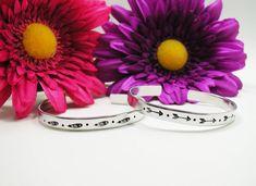Long Distance Bracelet Cuff - Personalized Bracelet - Best Friends Bracelet Cuff - Handstamped Cuff - Feather Bracelet - Arrow Bracelet