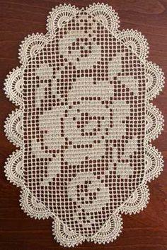 Advanced Embroidery Designs - Wild Rose FSL Crochet Doily