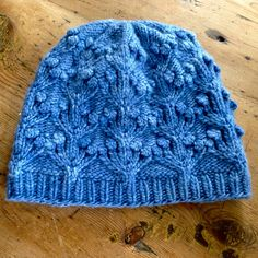 orchids & fairy lights by tiny owl knits, knitted by heidi1 | malabrigo Worsted in Bijou Blue