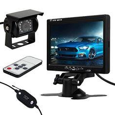 Pathson Funk Auto R�ckfahrkamera 120� Nachtsicht+7 Zoll Bildschirm Farb-Monitor Kfz Set R�ckfahrsystem