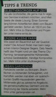 Selbstversorger, kleine Farm, Urban Gardenning