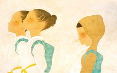 Teammates(KARATE girls) / Ikumi Nakada116.7×72.7cm(46×28.7inch) / 2014 / oil and pencil on paper
