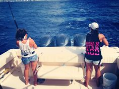 KY Alpha Gams showing their pride while deep sea fishing!