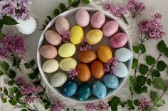 Nature Dyed Easter Egg Rainbow - Homesong » simple things done with care