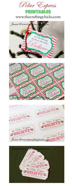 {Polar Express Printables} Printable tickets and bell tags