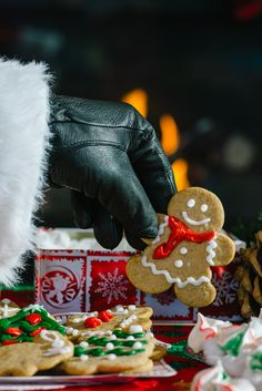 Recipes for Christmas Cookies, including Gingerbread and Prune Turnovers. Perfect for Santa's cookie plate. Serve with milk or a glass of brandy.