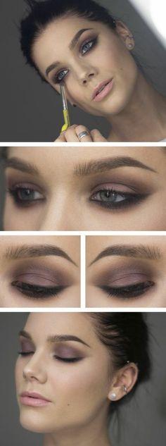 idée originale comment maquiller les yeux bleus, maquillage année 60