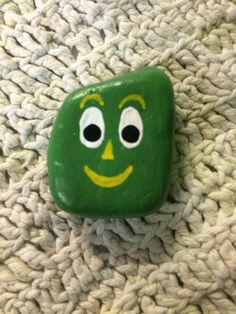 Gumby painted rock