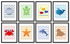 Sea Animals Nursery Art Nursery Print Child Mix by KidsNurseryArt, $1.20