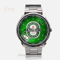 Heineken BeeR Sport Metal watch by telopolo on Etsy, $17.50