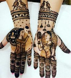 Check beautiful & easy mehndi designs 2020 ideas for mehandi ceremony. Save these latest bridal mehandi designs photos to try on your hands in this wedding season. Mehndi Designs For Girls, Stylish Mehndi Designs, Mehndi Design Pictures, Wedding Mehndi Designs, Mehndi Art Designs, Beautiful Mehndi Design, Latest Mehndi Designs, Tattoo Designs, Marwari Mehndi Design