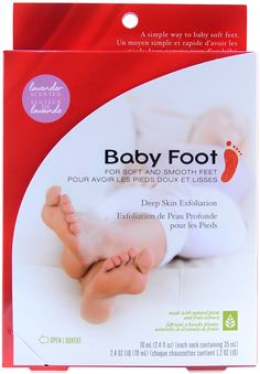 Baby Foot Easy Pack - Original Deep Skin Exfoliation for Feet (2.4 fl. oz. / 70 mL), Free Shipping at Nail Polish Canada