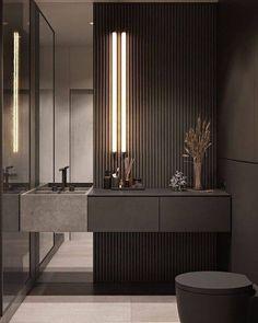 Bathroom Design Luxury, Modern Bathroom Design, Restroom Design, Bathroom Layout, Interior Design Living Room, Modern Interior, Interior Colors, Luxury Interior Design, Living Room Designs