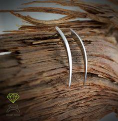Needle EarringsSterling Silver Earrings by Dcastjoyas on Etsy