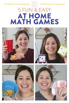 Looking for some fun and easy math games to play at home?! This blog post shares 5 educational math games for students in kindergarten, first and second grade with video lessons to accompany each one! Head on over to the post to see each game!