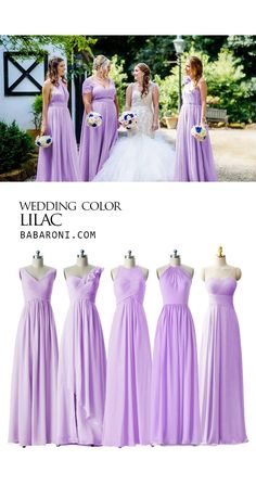 wedding bridesmaids Lilac gowns always look more tender, and girls in lilac bridesmaid dresses will always look more stylish and elegant.Let you shine at the party. Champagne Bridesmaid Dresses, Bridesmaid Dresses Plus Size, Bridesmaid Dress Colors, Wedding Bridesmaids, Burgundy Bridesmaid, Bridesmaid Gowns, Lilac Wedding, Wedding Gowns, Bridal Gowns